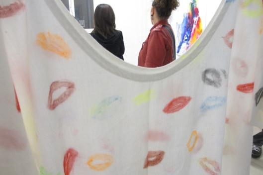 El vestido y las visitas. Foto chula de Patri.